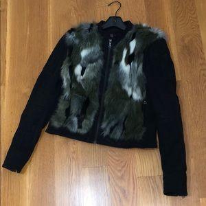 BCBG jacket faux fur, size S